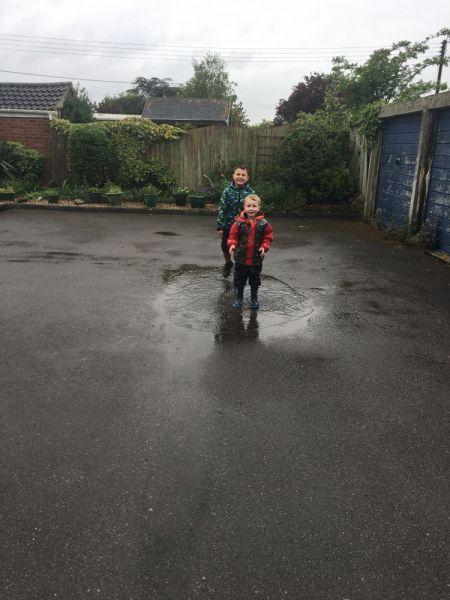 Alfie-in-puddles