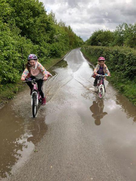 Isla-and-Esta-bike-riding